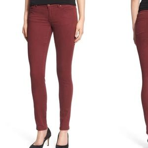 MAROON colored Caslon skinny jeans size 29